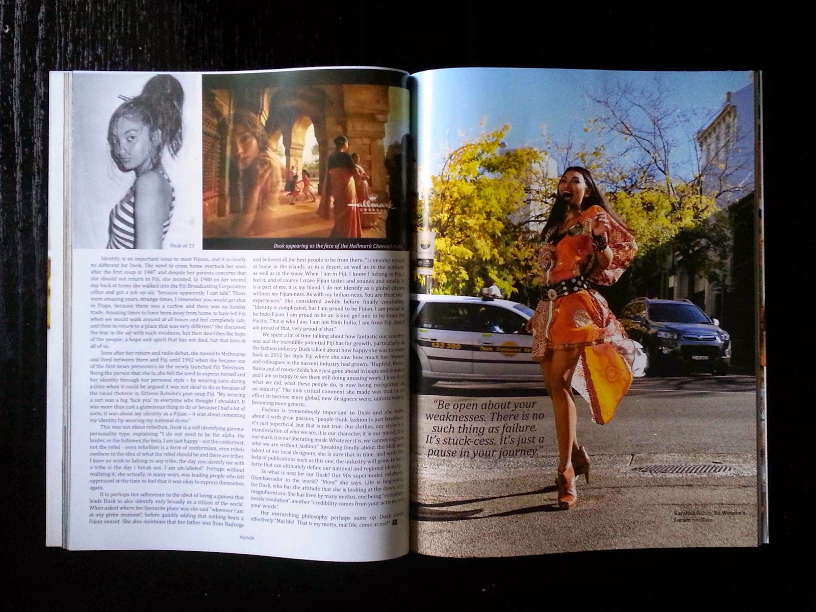 Dusk Devi editorial for Mai Life STYLE, Fiji and the Pacific's first dedicated fashion and lifestyle magazine