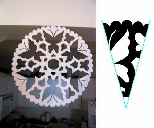 Схемы снежинок из бумаги Schemes of paper snowflakes