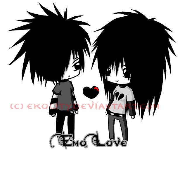 Sad Emo Cartoon Drawings Emo couple