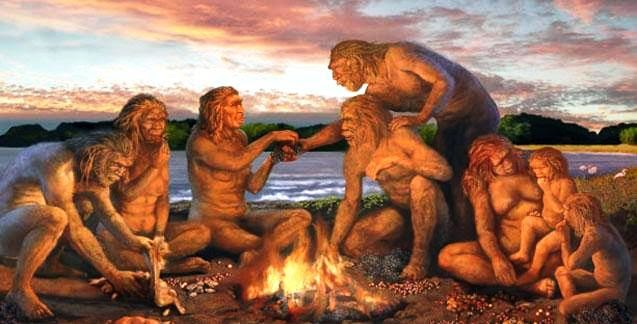 Etiquipedia Dining Customs and Etiquette A Brief History : EARLY man using fire from etiquipedia.blogspot.com size 637 x 324 jpeg 43kB