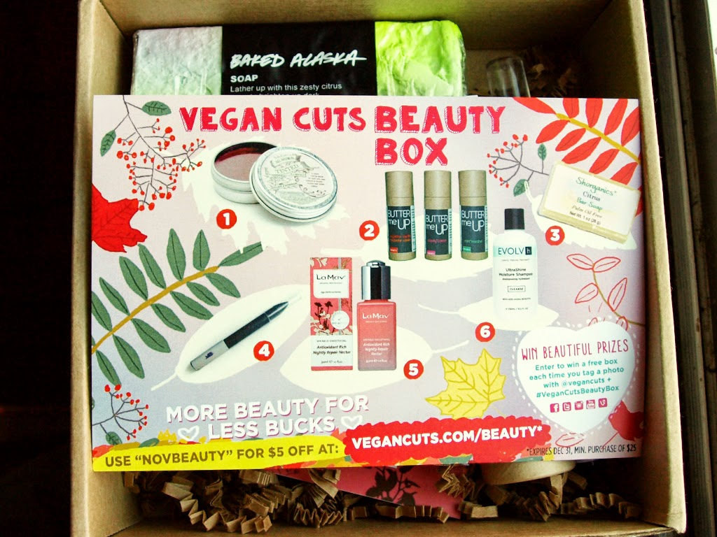 see shop love november vegan cuts beauty box review. Black Bedroom Furniture Sets. Home Design Ideas