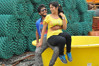 Chandini Chowdary Romantic pics from movie Ketugadu with tejas