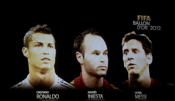 Cristiano Ronaldo Andres Iniesta Lionel Messi
