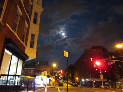 Blue moon over Brooklyn. August 20, 2013