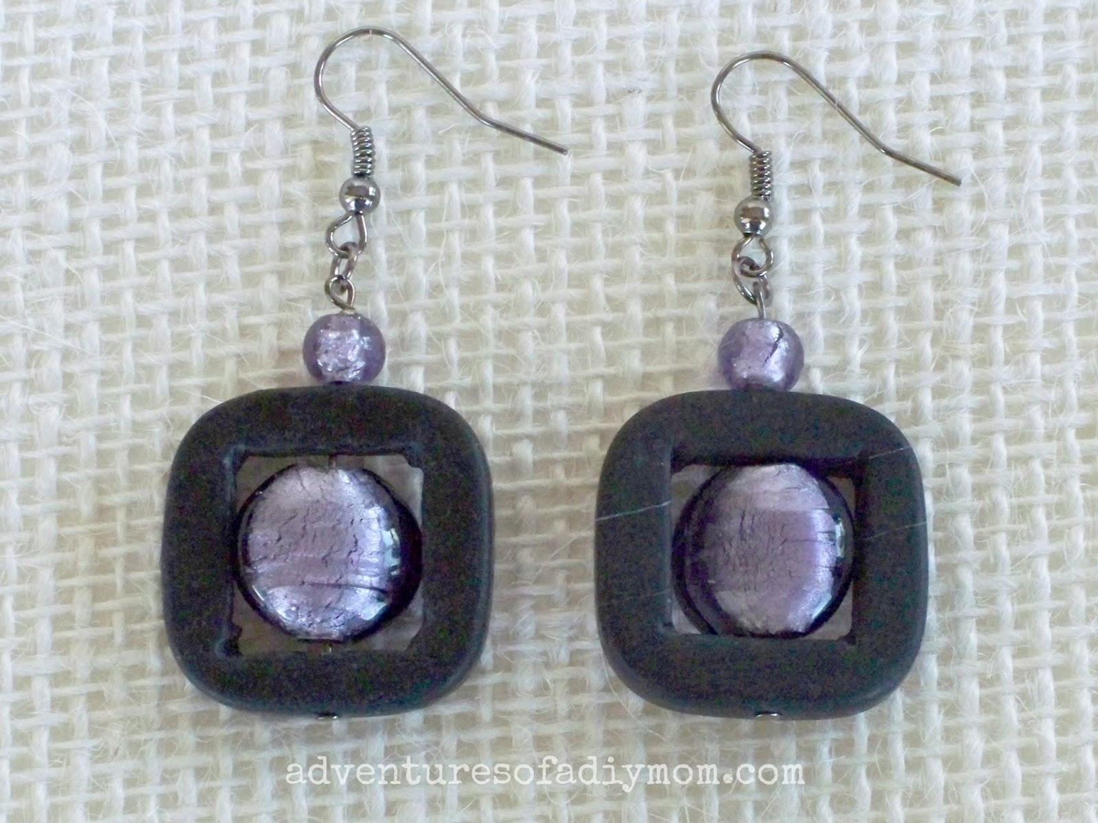 Grey and Lilac Earring