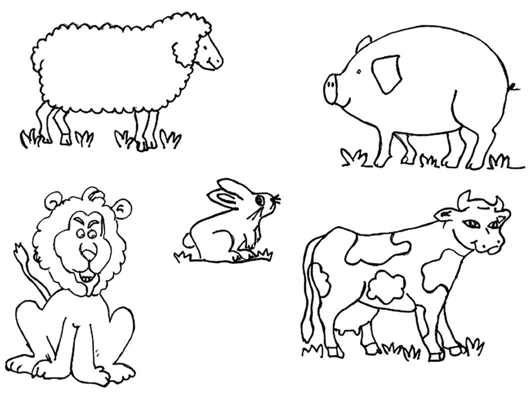 CuentosDeDonCoco.Com: ANIMALES DOMÉSTICOS PARA COLOREAR