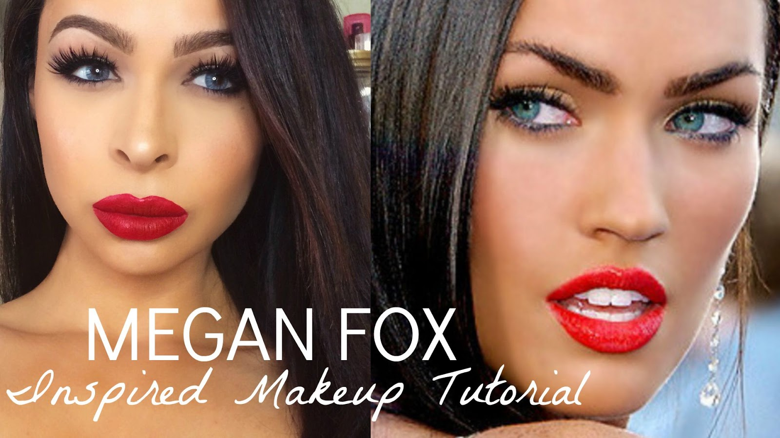 Krystal allen beauty celebrity inspired makeup tutorial megan fox celebrity inspired makeup tutorial megan fox baditri Images
