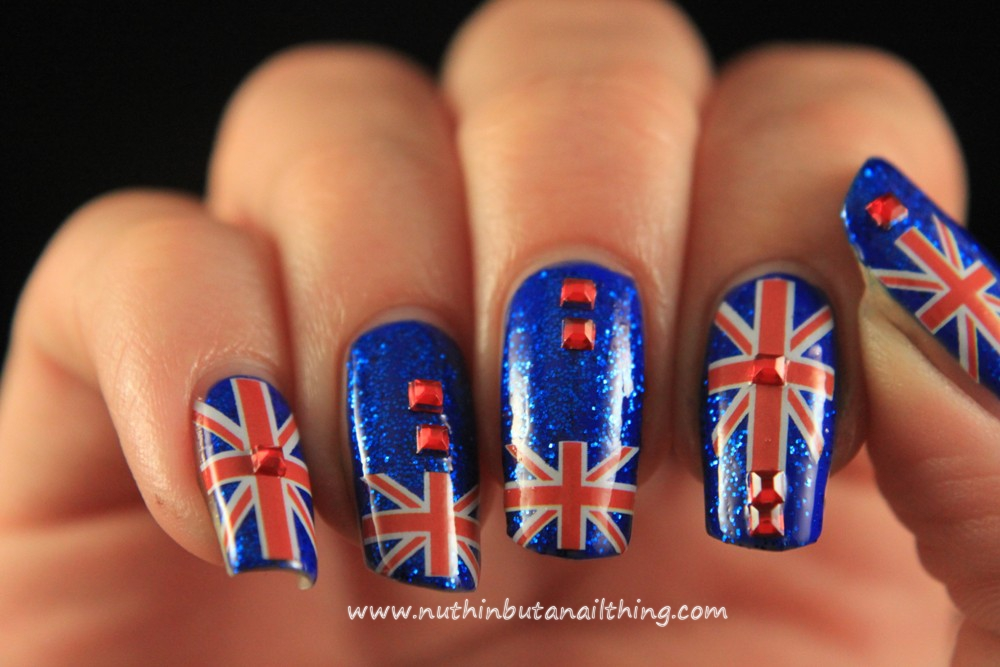 Nuthin but a nail thing 33 day challenge day 21 europe union jack nail art union jack nail art prinsesfo Image collections