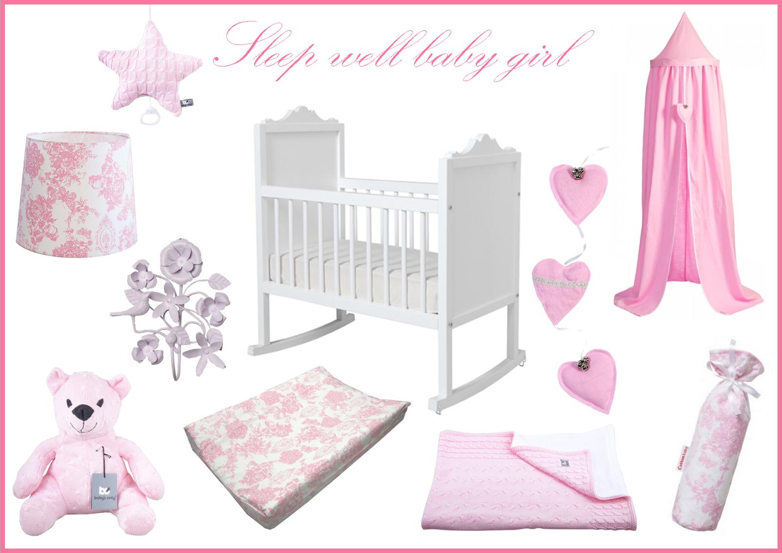 Loved by myrthe baby en kinderen romantische babykamer voor een meisje - Kleur babykamer meisje ...