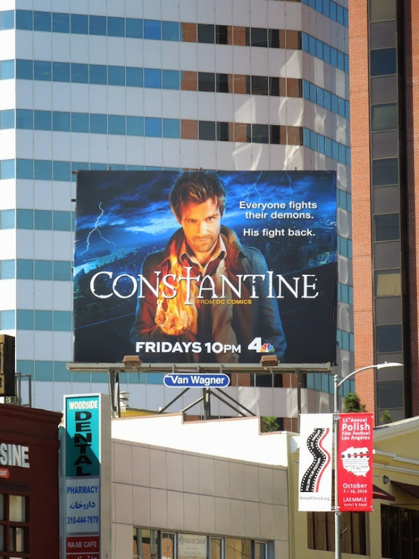 Constantine NBC series billboard
