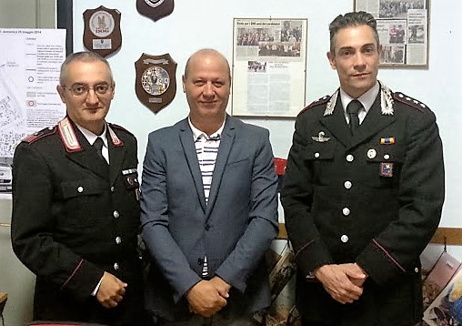 Visita ufficiale alla sezione del nuovo Comandante - Capitano Antonio Stanizzi. Ottobre 2015.