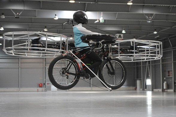 Czech researchers develop a flying bicycle