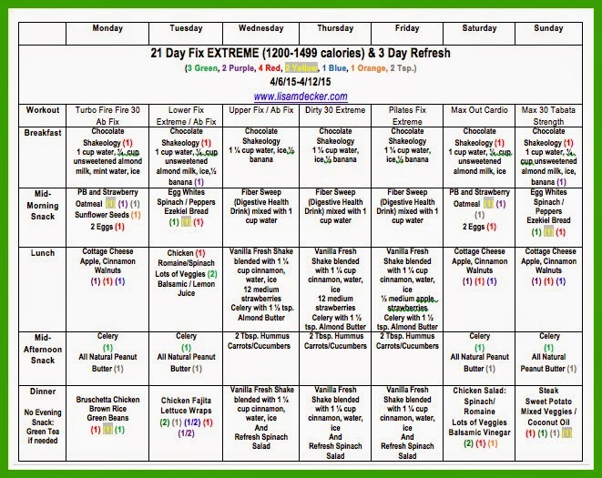 21 Day Fix, 21 Day Fix Extreme, Meal Planning, Clean Eating, Beachbody on Demand, 3 Day Refresh, 3 Day Refresh Meals, 21 day Fix Meal Plan, 3 Day Refresh Meal Plan