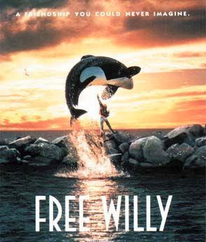 Poster Of Free Willy (1993) In Hindi English Dual Audio 300MB Compressed Small Size Pc Movie Free Download Only At World4ufree.Org