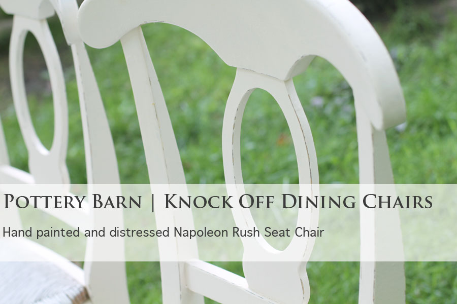 Pottery Barn Knock Off Chairs