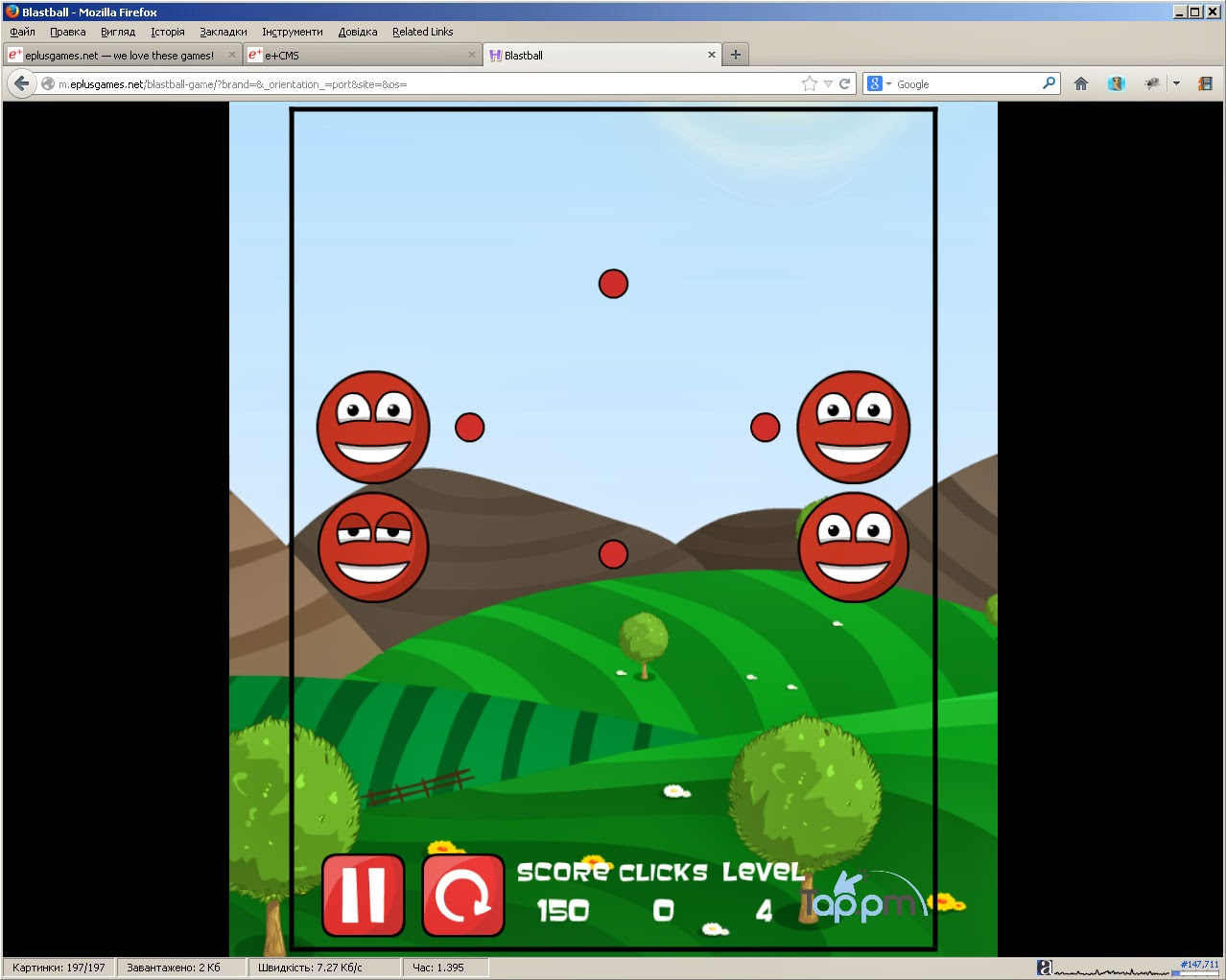 http://m.eplusgames.net/blastball-game/