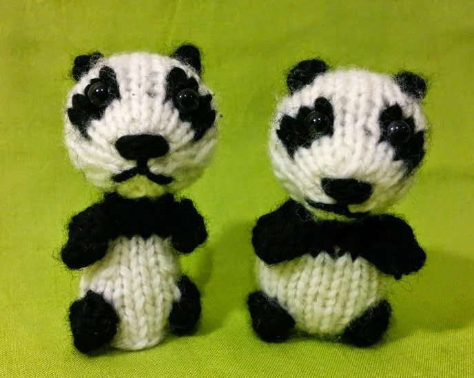 Fuzzy Thoughts Wee Panda Toy And Finger Puppet