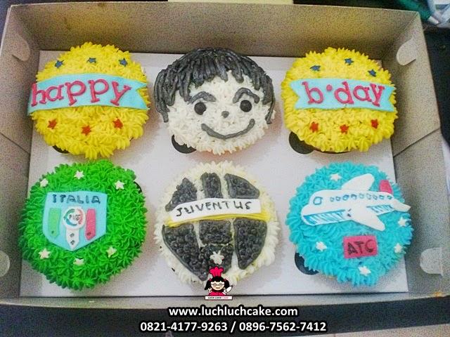 Cupcake Buttercream Pesawat Daerah Surabaya Sidoarjo