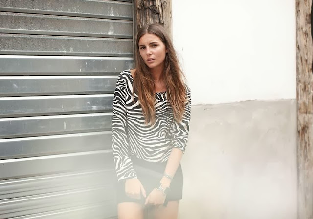 Pull zebre Sezane Collection Hiver 2013