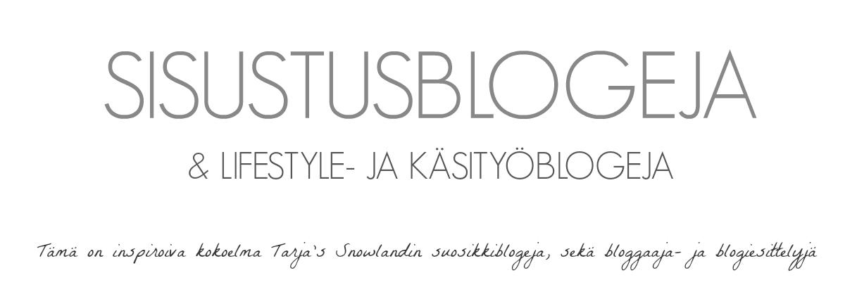 Sisustusblogeja