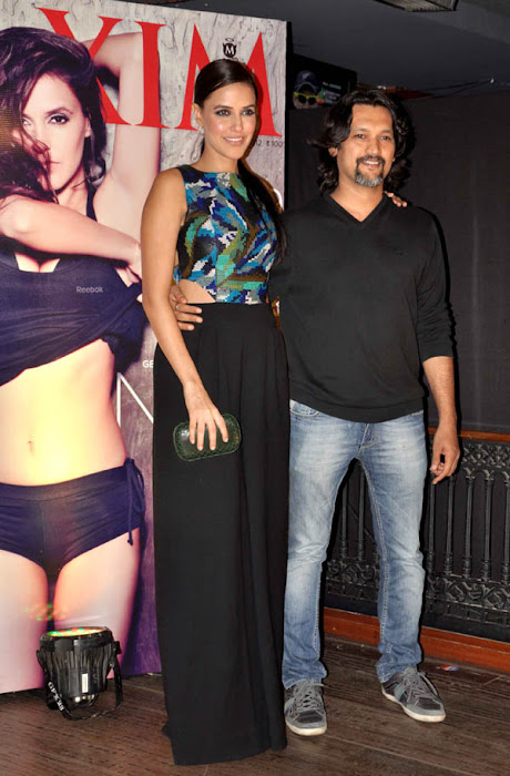 neha dhupia at maxim artic vodka party hot images