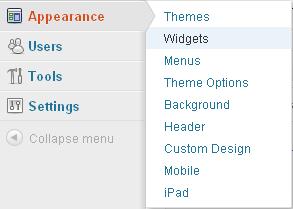 Gambar 3 Menu Widgets
