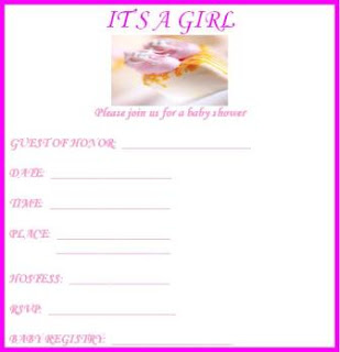 It's a Girl Baby Shower Invitations