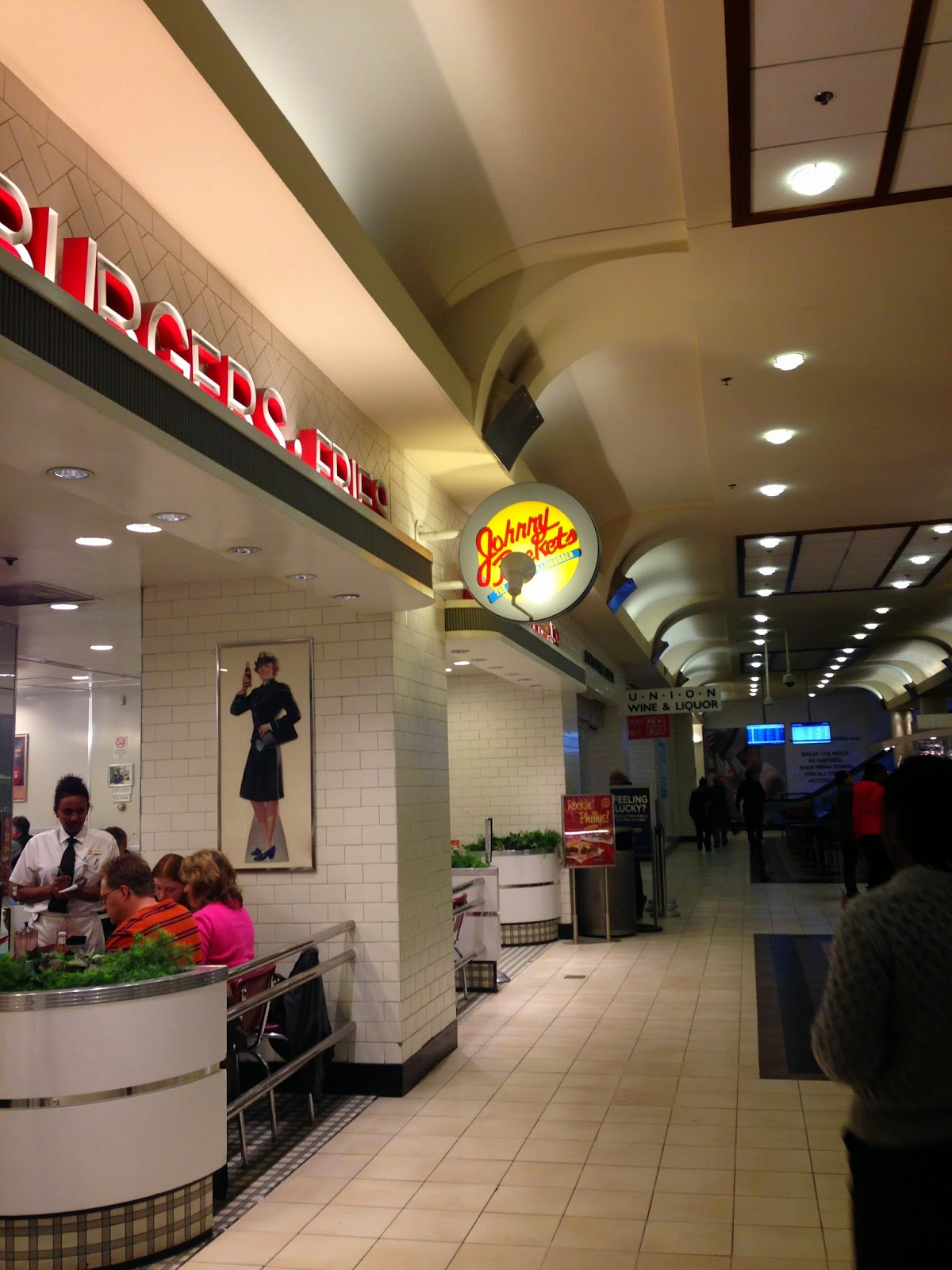 Johnny Rockets inside train station