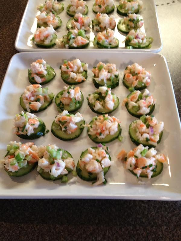 Janis Cooks: Shrimp Salad On Cucumber Slices