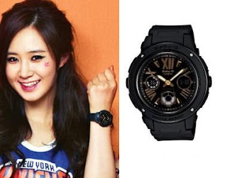 SNSD Yuri Casio Baby G Watch Collection