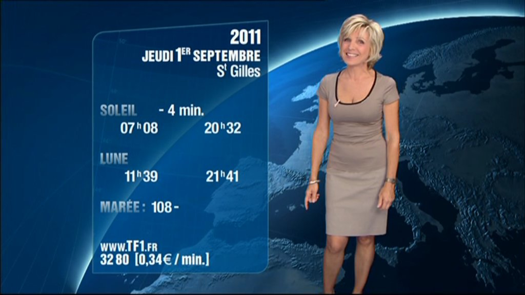 2011 08 31 19h57 evelyne dheliat tf1 meteo. Black Bedroom Furniture Sets. Home Design Ideas