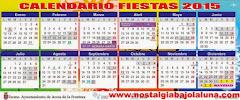 CALENDARIO FIESTA ARCOS 2015