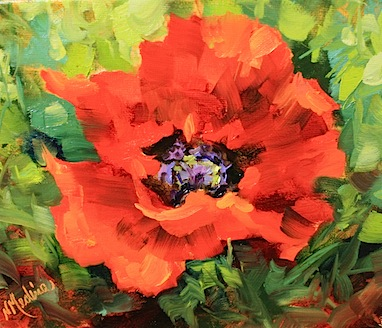 Nancy medina art painted poppy by texas flower artist nancy medina painted poppy by texas flower artist nancy medina mightylinksfo