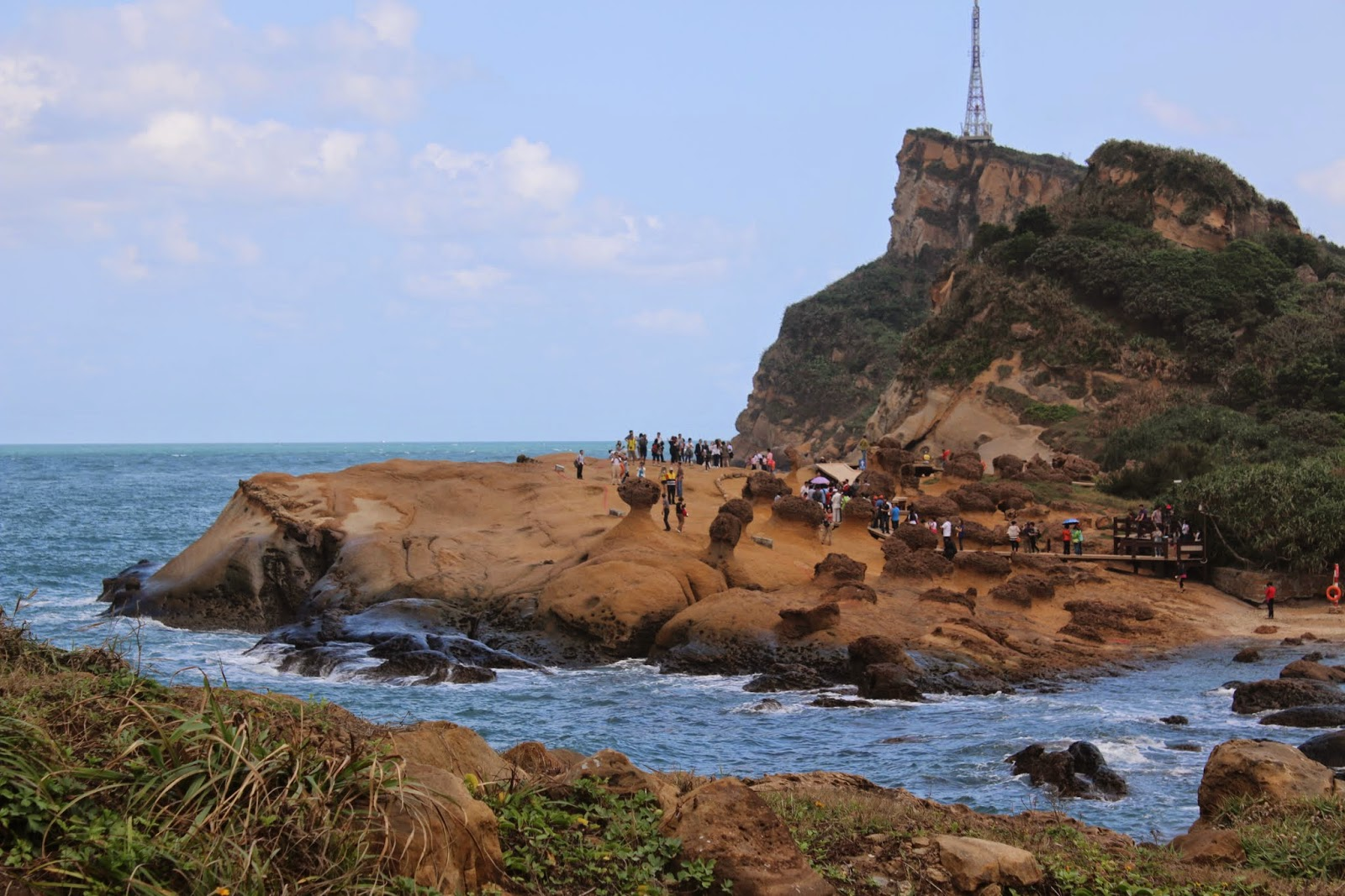 Breathtaking sea view with the rocks evolution at Yeh Liu Geopark in Taiwan
