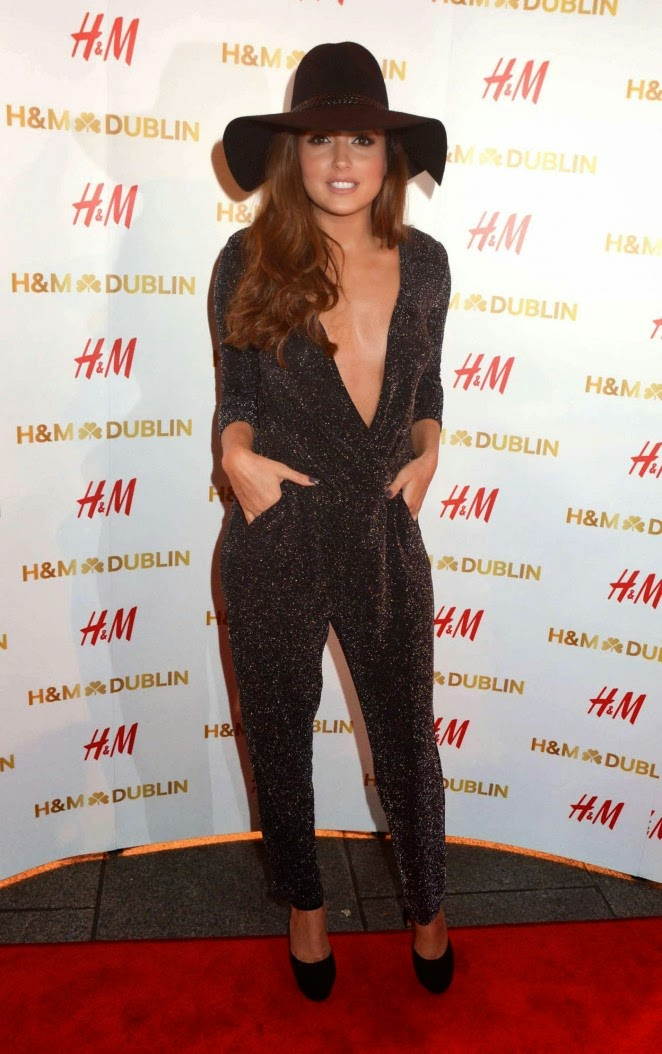 Nadia Forde sparkles in a plunging jumpsuit at the H&M Dublin launch