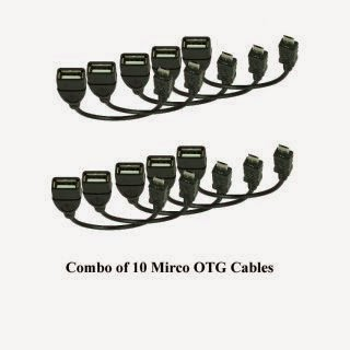 Buy Combo of 10 Micro OTG Cables for Mobile for Rs.71 at Shopclues :- BuyToEarn