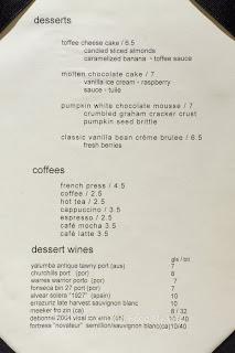 Thyme Dessert Menu