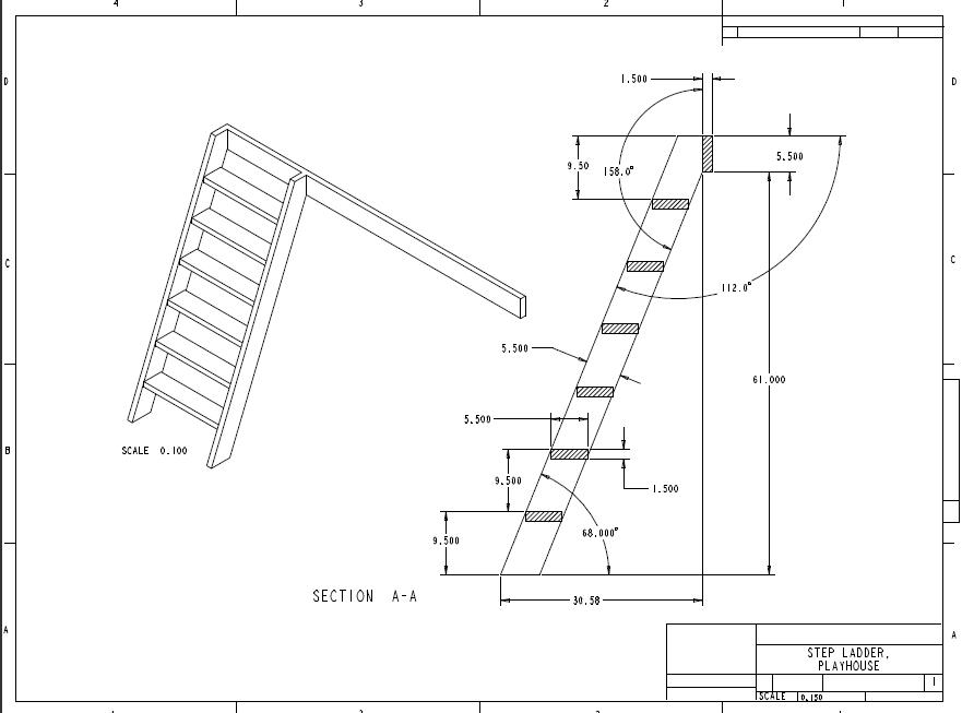 gerald u0026 39 s playhouse project  playhouse ladder drawing