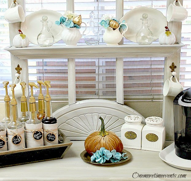 Painted gold pumpkins at One More Time Events.com