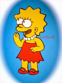 Lisa Simpson en goma eva