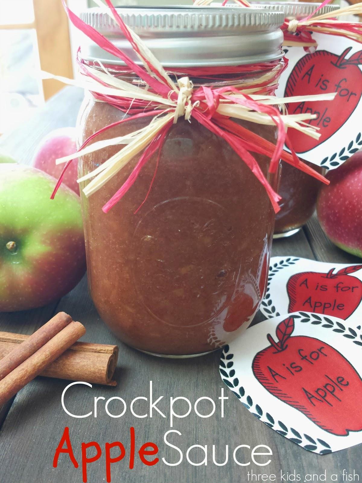 crock pot applesauce with tag