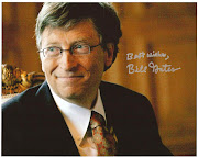 Bill Gates, one of the most successful person, in the fields of business, .