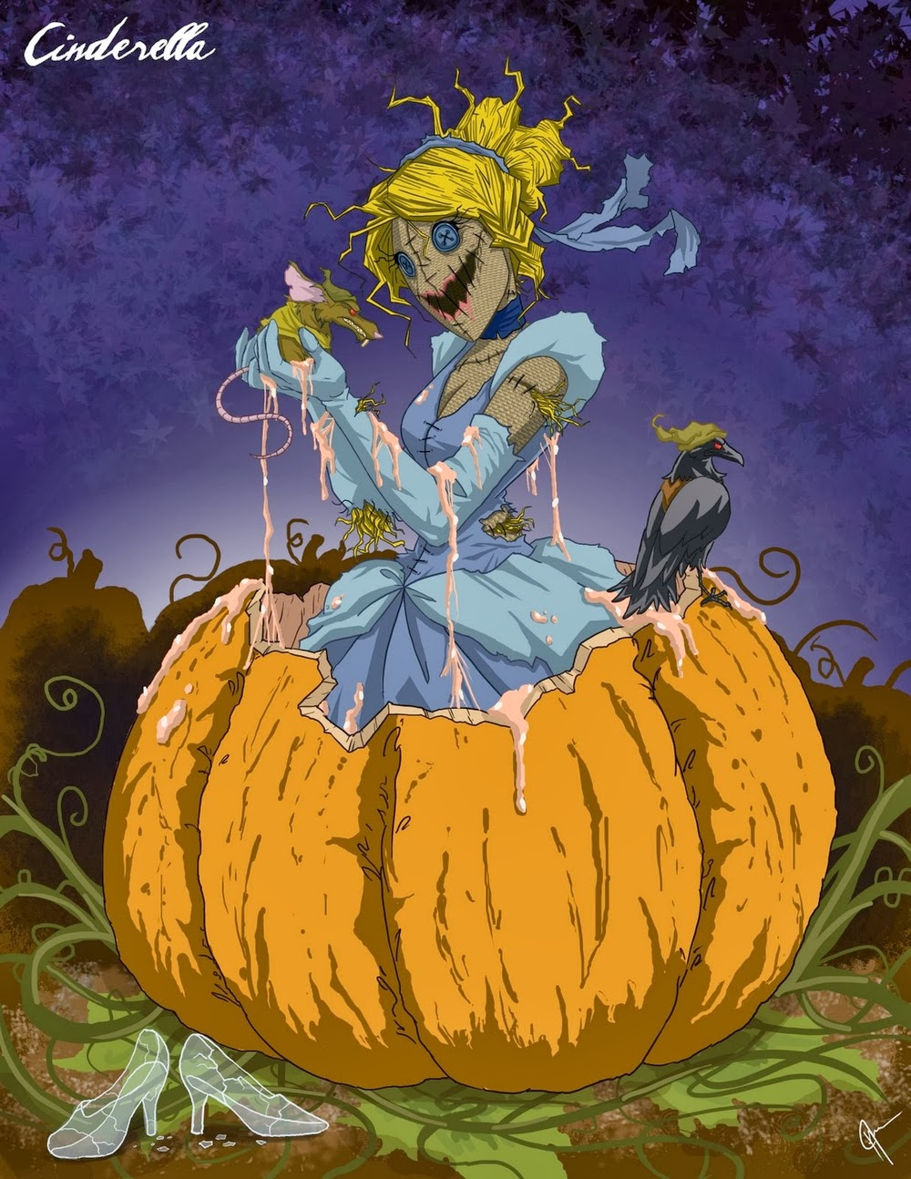 06-Cinderella-Jeffrey-Thomas-Twisted-Princess-www-designstack-co