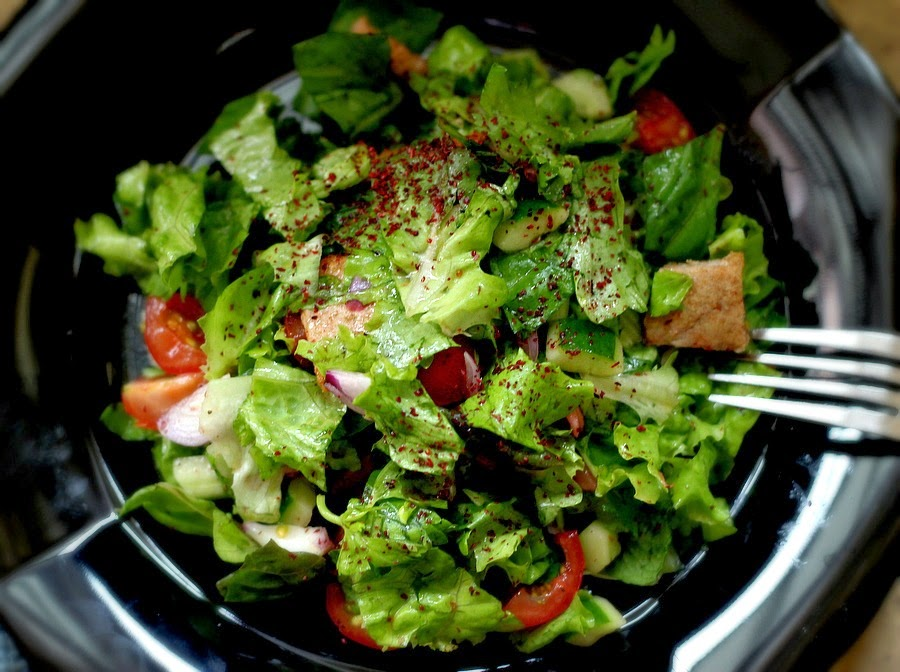 frozen wings: Fattoush Salad