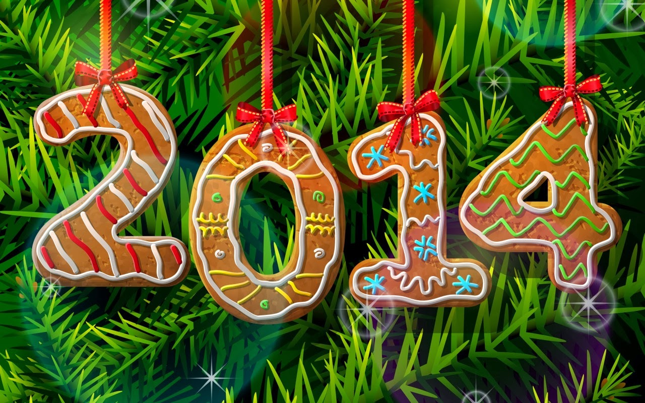 2014 New Year Text by Cookie HD Wallpaper