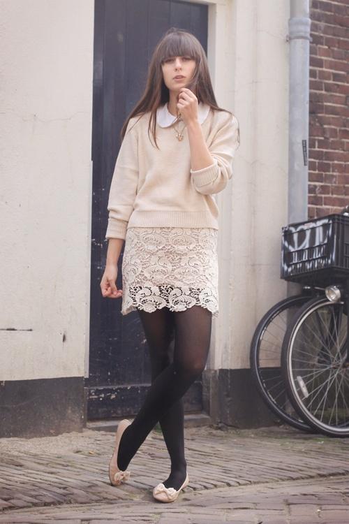 moda falda encaje