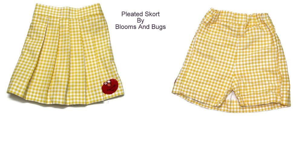 Free Sewing Tutorial: Pleated Skort Pattern
