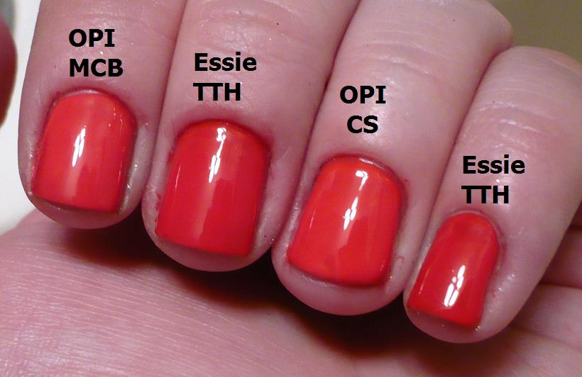 Opi A Good Mandarin Is Hard To Find Vs Hot And Spicy The gallery for -->...