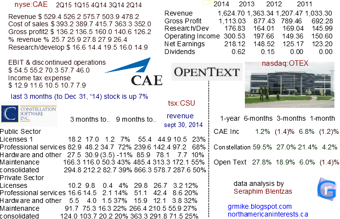 CAE Inc, constellation software inc, open text corporation, toronto stock exchange, security and defence, aviation stocks, aviation training, aerospace industry, ibm competition, organic growth, revenue growth, acquisitions, b2b services, software companies, nasdaq, market leading software, quarterly growth, dividends, growing companies, services stocks, diversified customers, healthcare sector, US Air Force, healthcare, critical software technology, software technology, tech stocks,