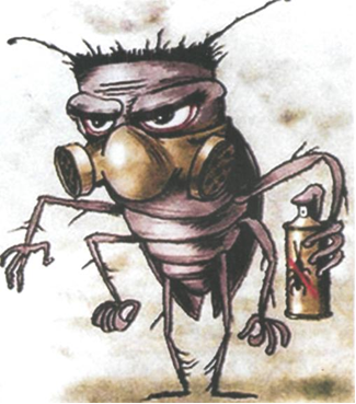 На фото: тараканы дохнут
